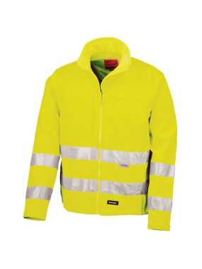 Unisex bunda (RESULT HIGH -VIZ SOFT SHELL JACKET)>žltá>S
