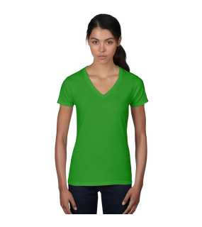 Dámske tričko (WOMENS FASHION BASIC V-NECK TEE) > zelená (apple) > S