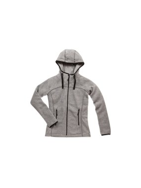 Dámska fleece bunda (STEDMAN Active Power Fleece Jacket)>šedá (heather)>S