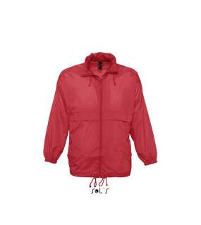 Unisex bunda (SOLS SURF UNISEX WATERPROOF WINDBREAKER) > červená > XL