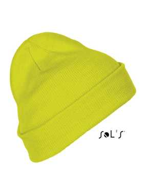 Unisex čiapka(SOL'S PITTSBURGH SOLID-COLOUR BEANIE WITH CUFFED DESIGN)>žltá (neon)