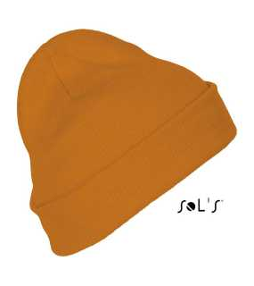 Unisex čiapka(SOL'S PITTSBURGH SOLID-COLOUR BEANIE WITH CUFFED DESIGN)>oranžová (neon)