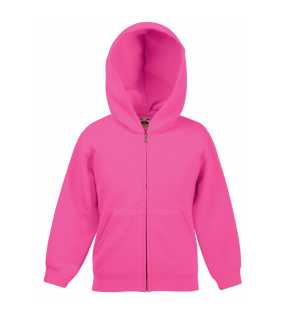 Detská mikina (FRUIT OF THE LOOM Kids Hooded Sweat Jacket )>ružová (fuchsia)>7/8
