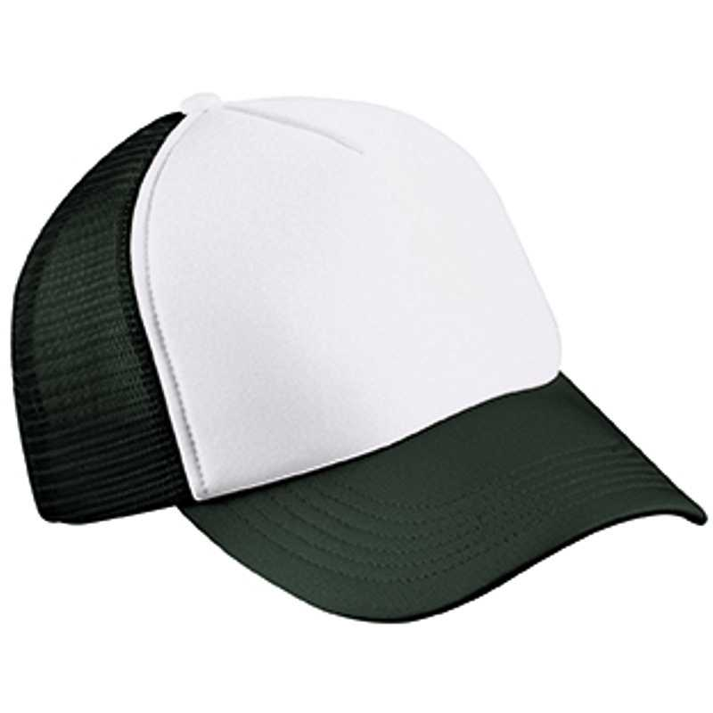 5 panelová šiltovka (MB 5 Panel Polyester Mesh Cap for Kids) biela   čierna 1027af516b