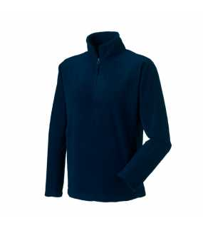 Pánska fleece mikina(Quarter Zip Outdoor Fleece RUSSELL)>modrá (frenchnavy)>L