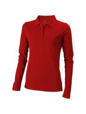 Dámska polokošeľa (Oakville Ladies long sleeve Polo Elevate) > červená > XS
