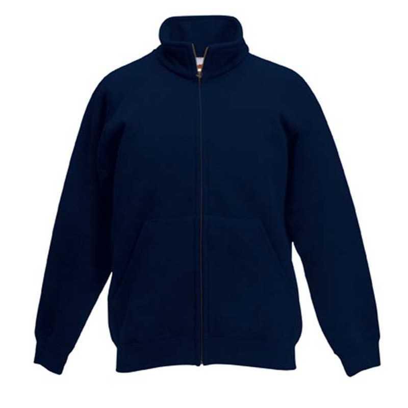 Detská mikina (FRUIT OF THE LOOM Kids Sweat Jacket) modrá (deep navy) 12 13 4d04215cfc