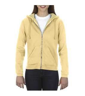 Dámska mikina(COMFORT COLORS LADIES' FULL ZIP HOODED SWEATSHIRT)>žltá (butter)>2XL