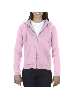 Dámska mikina(COMFORT COLORS LADIES' FULL ZIP HOODED SWEATSHIRT)>ružová (blossom)>XL