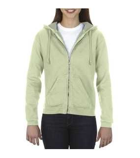 Dámska mikina(COMFORT COLORS LADIES' FULL ZIP HOODED SWEATSHIRT)>zelená (celadon)>2XL