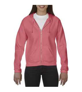 Dámska mikina(COMFORT COLORS LADIES' FULL ZIP HOODED SWEATSHIRT)>ružová (watermelon)>XL