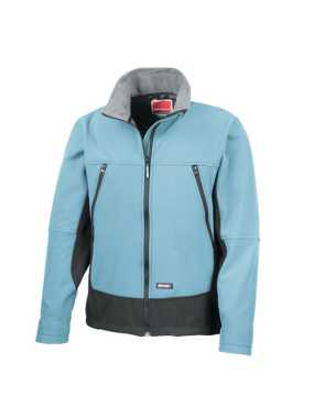 Unisex bunda (RESULT SOFT SHELL ACTIVITY JACKET) > modrá (sky) / čierna > S