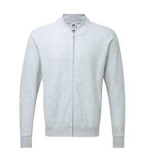 Pánska mikina (FOL LIGHTWEIGHT BASEBALL SWEAT JACKET) > šedá(heather grey) > S