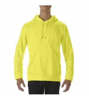 Unisex mikina(GILDAN PREFOMANCE® ADULT TECH HOODED SWEATSHIRT)>zelená (safety)>M