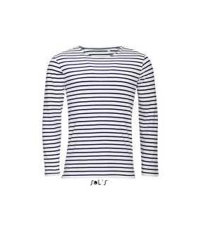 Pánske tričko (SOL S MARINE MEN)   biela   modrá (navy)   L 09b666612c4