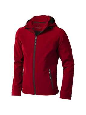 Pánska softshellová bunda (ELEVATE Langley Softshell Jacket) > červená > S