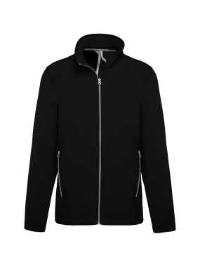 Pánska bunda(KARIBAN MEN'S 2-LAYER SOFTSHELL JACKET)>čierna>2XL