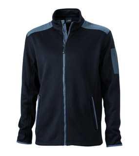 Pánska fleece bunda (JN Men s Knitted Fleece Jacket) čierna   šedá (carbon ffda35c3e92
