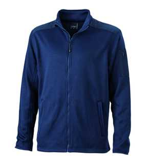 Pánska fleece bunda (JN Men's Knitted Fleece Jacket)>modrá (navy)>XL
