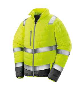 Pánska bunda(RESULT SAFEGUARD SOFT PADDED SAFETY JACKET)>žltá / šedá>M