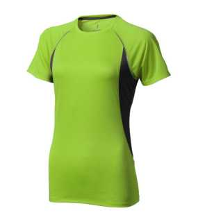 Dámske tričko (ELEVATE Quebec Cool Fit Ladies T-shirt)>zelená(apple)/šedá(anthracite)>M