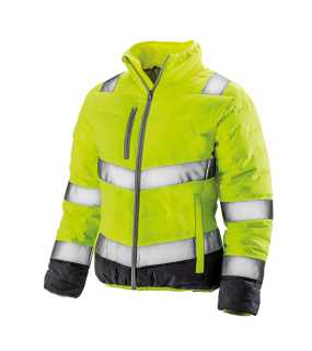Dámska bunda(RESULT SAFEGUARD WOMENS SOFT PADDED SAFETY JACKET)>žltá / šedá>L