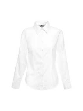Dámska košeľa (FRUIT OF THE LOOM Lady-Fit Long Sleeve Oxford Shirt ) > biela > S