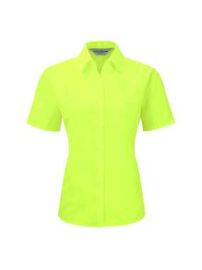 Dámska košeľa(Short Sleeve PolyCotton Easy Care Poplin RUSSELL)>zelená (lime)>XL