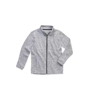 Pánska mikina (STEDMAN Active Knit Fleece Jacket)>šedá (lightmelange)>S