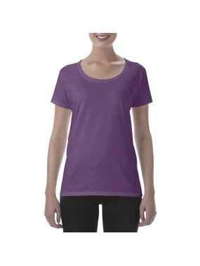 Dámske tričko(GILDAN SOFTSTYLE LADIES DEEP SCOOP TSHIRT)>fialová (heather aubergine)>XL