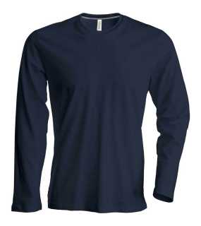 Pánske tričko ( Kariban Mens Long Sleeve Round Neck T-Shirt ) > šedá (dark) > XL