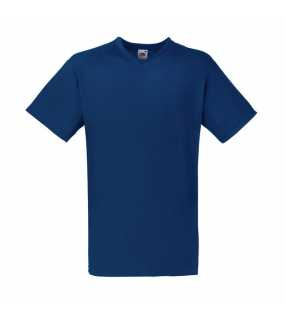 Pánske tričko (FRUIT OF THE LOOM Valueweight V-Neck T)>modrá (navy)