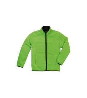 Pánska fleece bunda (STEDMAN Active Teddy Fleece Jacket) > zelená (kiwi) > L