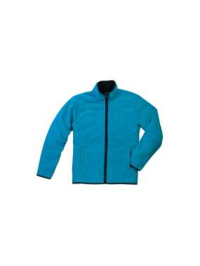 Pánska fleece bunda (STEDMAN Active Teddy Fleece Jacket)>modrá (hawai)>S
