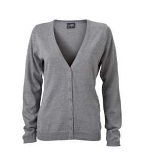 Dámsky sveter (Ladies' V-Neck Cardigan ) > šedá (heather) > M