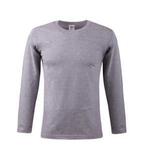 Pánske tričko (KEYA Men's Long Sleeve T-Shirt 150) > šedá (heather) > L