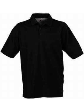 POLO S F COLLAR BLACK L