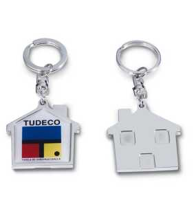 House silver key ring; silver