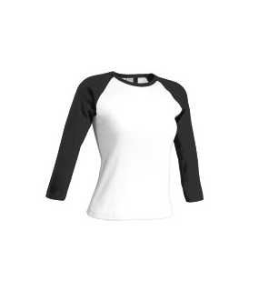 Tričko Ladies T-Shirt, Basseball > white/black > M