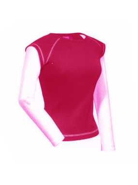 WOMEN´S TWO IN ONE SHIRT;BRIGHT ROSE/CHALK PINK; M