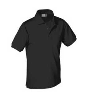 PIMA COTTON POLO SHIRT;BLACK; M